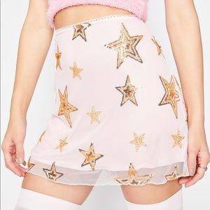 NWT Dollskill mesh miniskirt